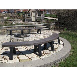 Silver Plastic Garden Bench by Freeport Park