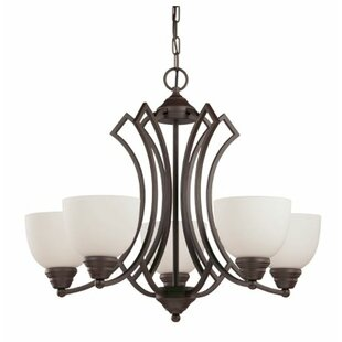 Winston Porter Woodmansee 5-Light Shaded Chandelier