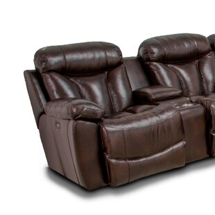 Brook Wescott Leather Reversible Reclining Sectional