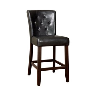Anusha Transitional Leather Upholstered Dining Chair (Set of 2) by Red Barrel Studio
