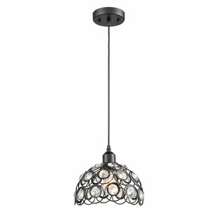 Everly Quinn Aaryahi Modern 1-Light Dome Pendant