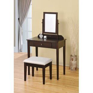 Winston Porter Overbay Beautiful Vanity Set with Mirror