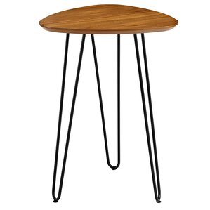 Bisson Hairpin Leg Wood End Table