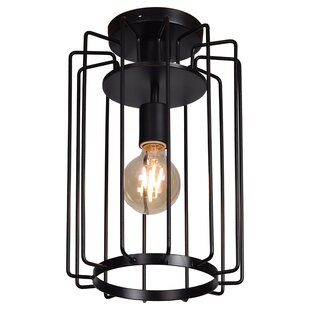 Williston Forge Mcelrath Vertical Cage 1-Light Flush Mount
