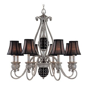 Classic Lighting Catturatto 8-Light Shaded Chandelier