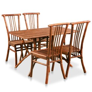Rondel Dining Set With 4 Chairs By Bay Isle Home