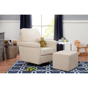 Maya Swivel Glider and Ottoman DaVinci