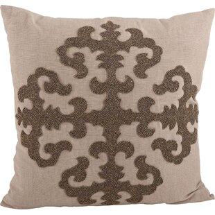 Ingrid Beaded Medallion Design Throw Pillow
