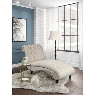 Alcott Hill Forestport Traditional Rolled Back Chaise Lounger with Diamond Shaped Tufting