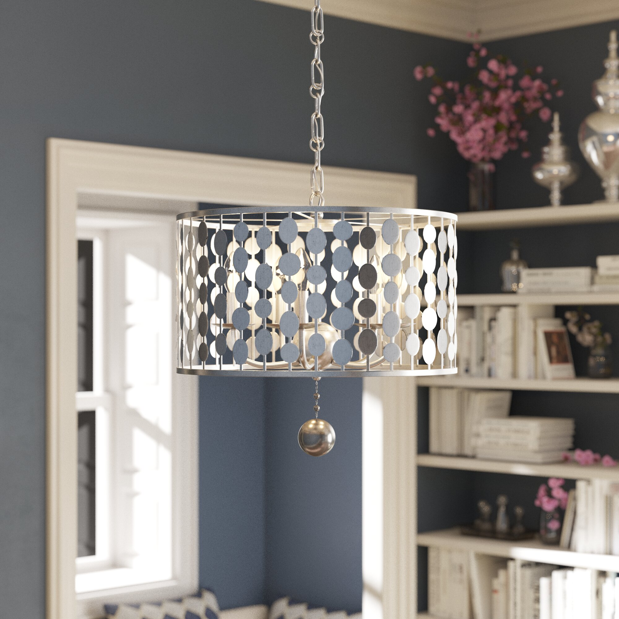 New IVORY Pleated Fabric Chandelier Lamp Shade Traditional Five 5 any room