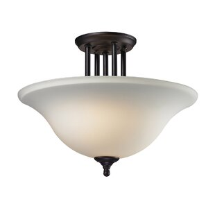 Westland 3-Light Semi Flush Mount by Charlton Home