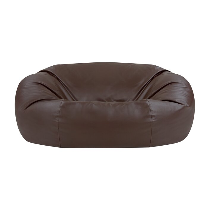 Fine Giant Faux Leather 2 Seater Bean Bag Sofa Pabps2019 Chair Design Images Pabps2019Com