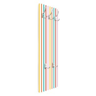 Stripes Wall Mounted Coat Rack By Symple Stuff