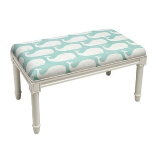 Delfin Whale Wood Bench by Highland Dunes New