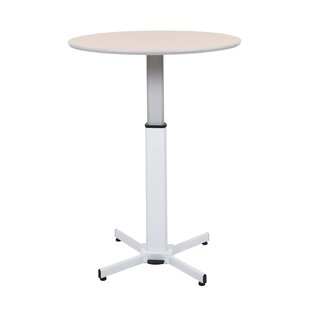 Pneumatic Adjustable Round Pedestal Table Offex