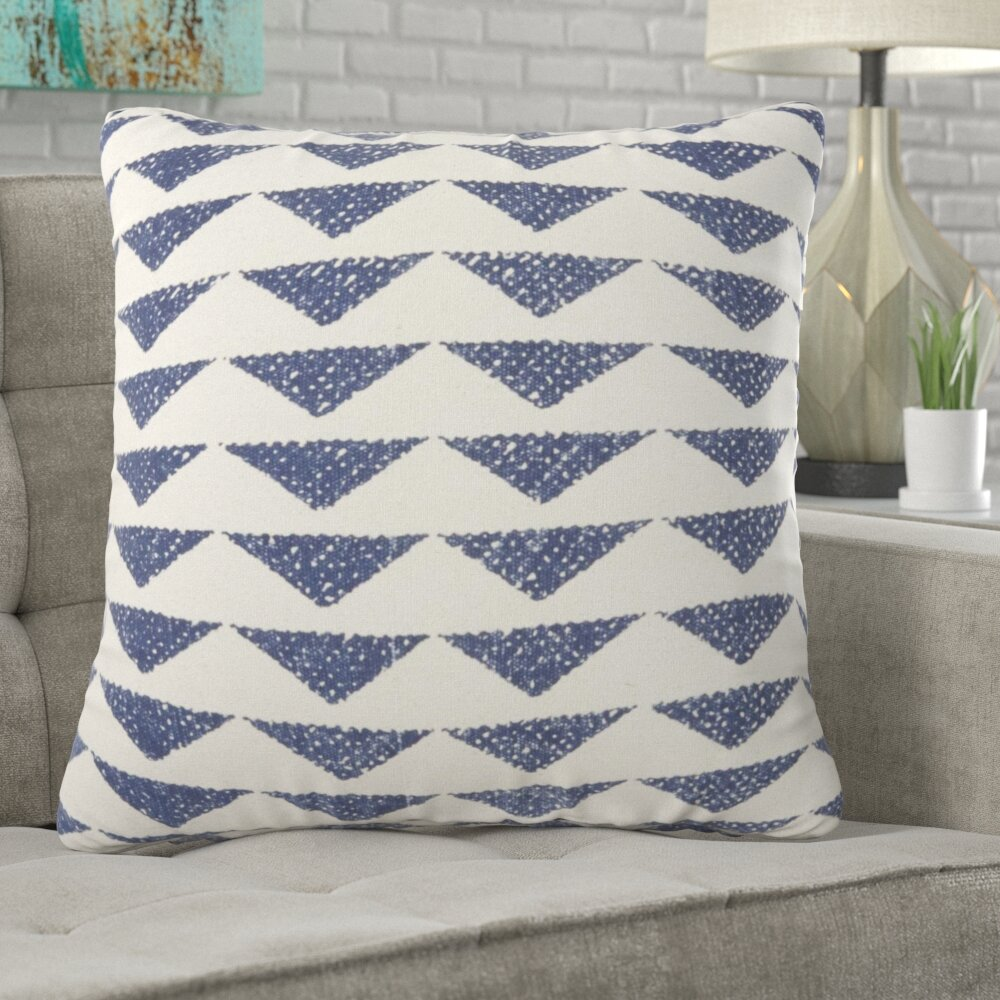 Brayden Studio Borchardt Geometric Cotton Throw Pillow Reviews Wayfair