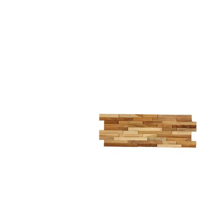 """3d Mosaic 21.5"""" X 8.25"""" Wood Tile In Brown Baredecor"""