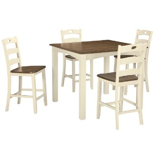Celia 5 Piece Counter Height Dining Set by Rosalind Wheeler