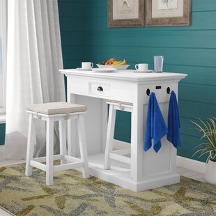 Amityville 3 Piece Pub Table Set by Beachcrest Home