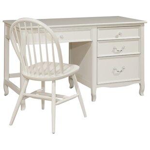 Viv + Rae Lilia Large Wood Pedestal Desk with 4 Drawers