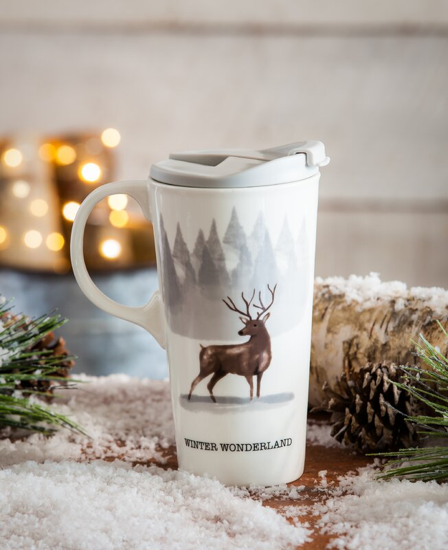 Laurel Winter Woodland Travel Mug