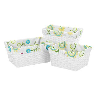 Deals Layla3 Piece Basket Liner Set By Sweet Jojo Designs