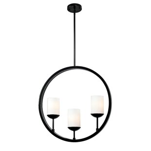 Inexpensive Gerardo Eclipse 3-Light Shaded Chandelier By Wildon Home ®