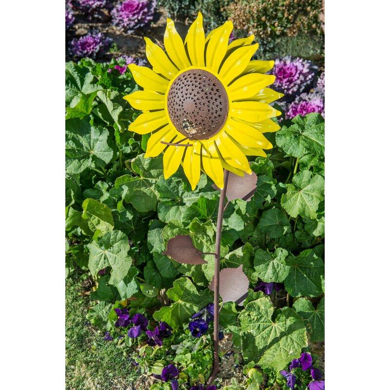 Desert Steel Steel Sunflower Decorative Bird Feeder Reviews Wayfair