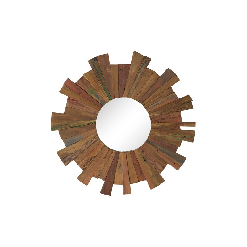 Reclaimed Wood Eclectic Accent Mirror