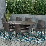 Admiral Contemporary 6 Seater Wicker Dining Set