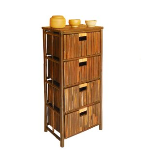 Lagoudera Bamboo 4 Drawer Accent Chest by Bay Isle Home