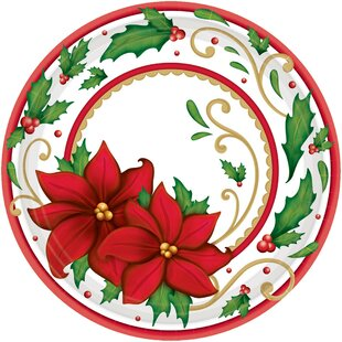 Christmas Paper Dessert Plate (Set of 60)