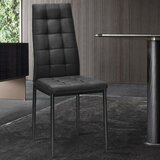 Chinedu Upholstered Parsons Chair in Black by Latitude Run®