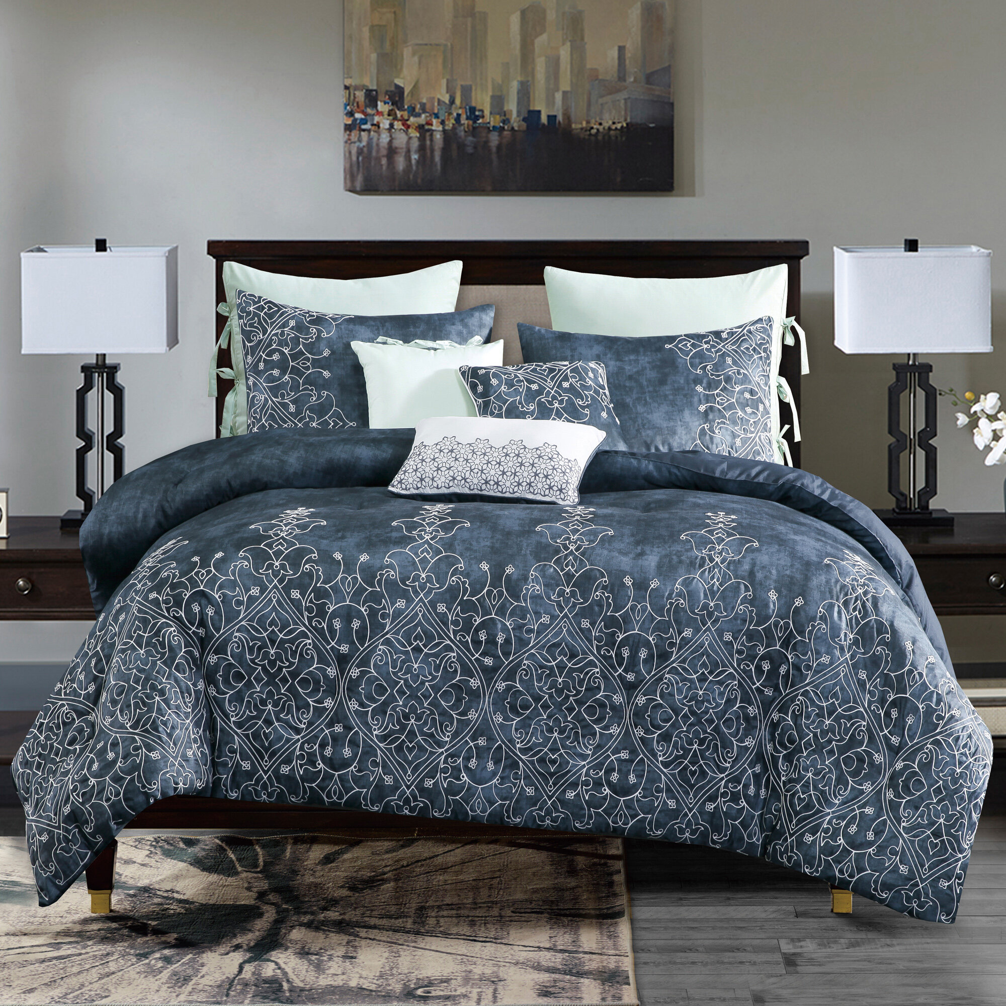 Canora Grey Delanie Luxury Comforter Set Wayfair