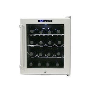 16 Bottle Single Zone Freestanding Wine Cooler by Whynter
