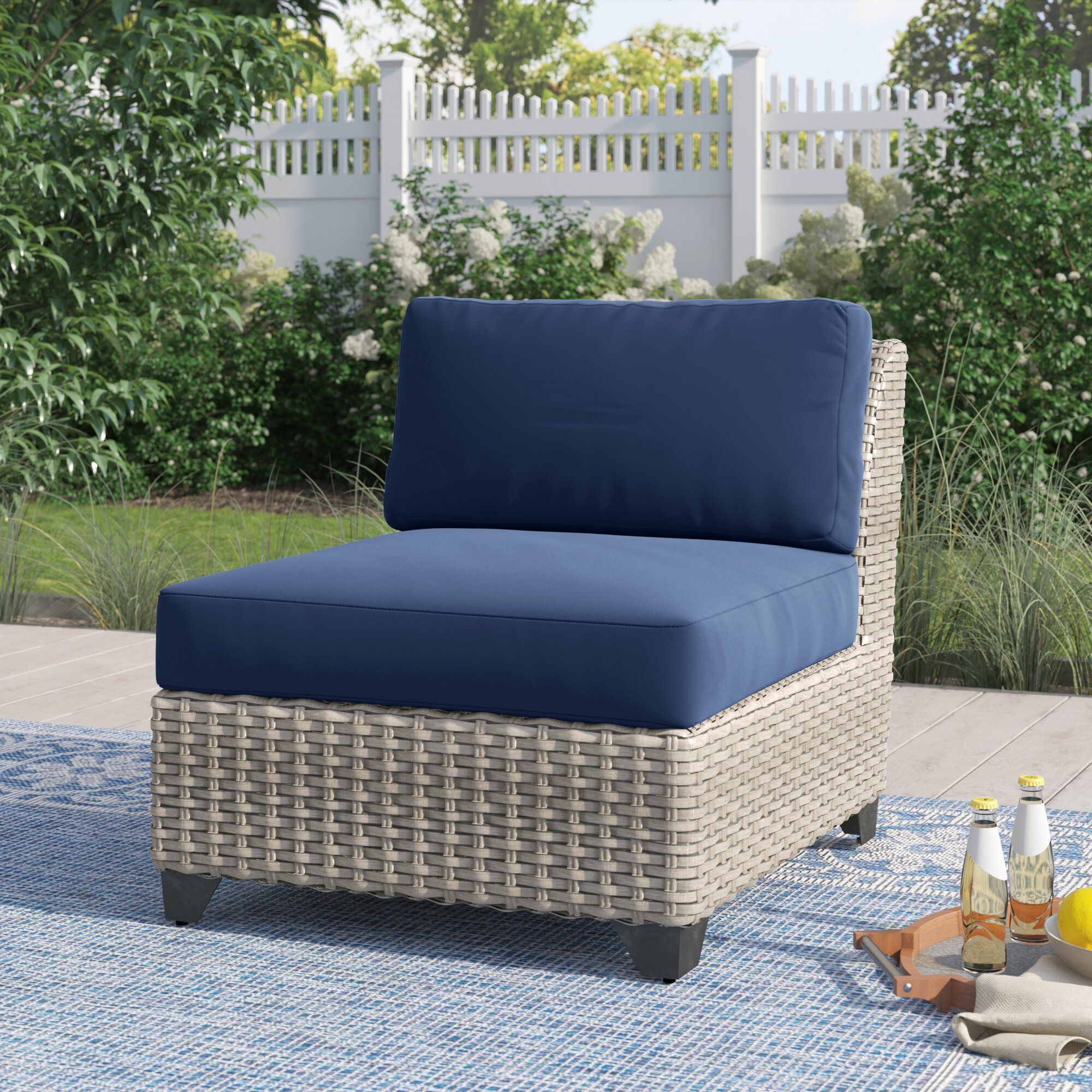 Sol 72 Outdoor™ Romford Patio Sofa With Cushions & Reviews | Wayfair