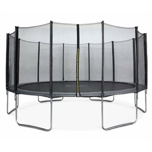 Harold 16' Round Trampoline With Safety Enclosure By Freeport Park