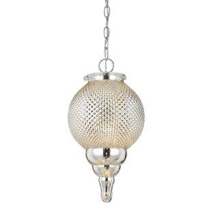 Bungalow Rose Cora 1-Light Globe Pendant