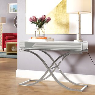 Jeannie Mirrored Console Table by Willa Arlo Interiors