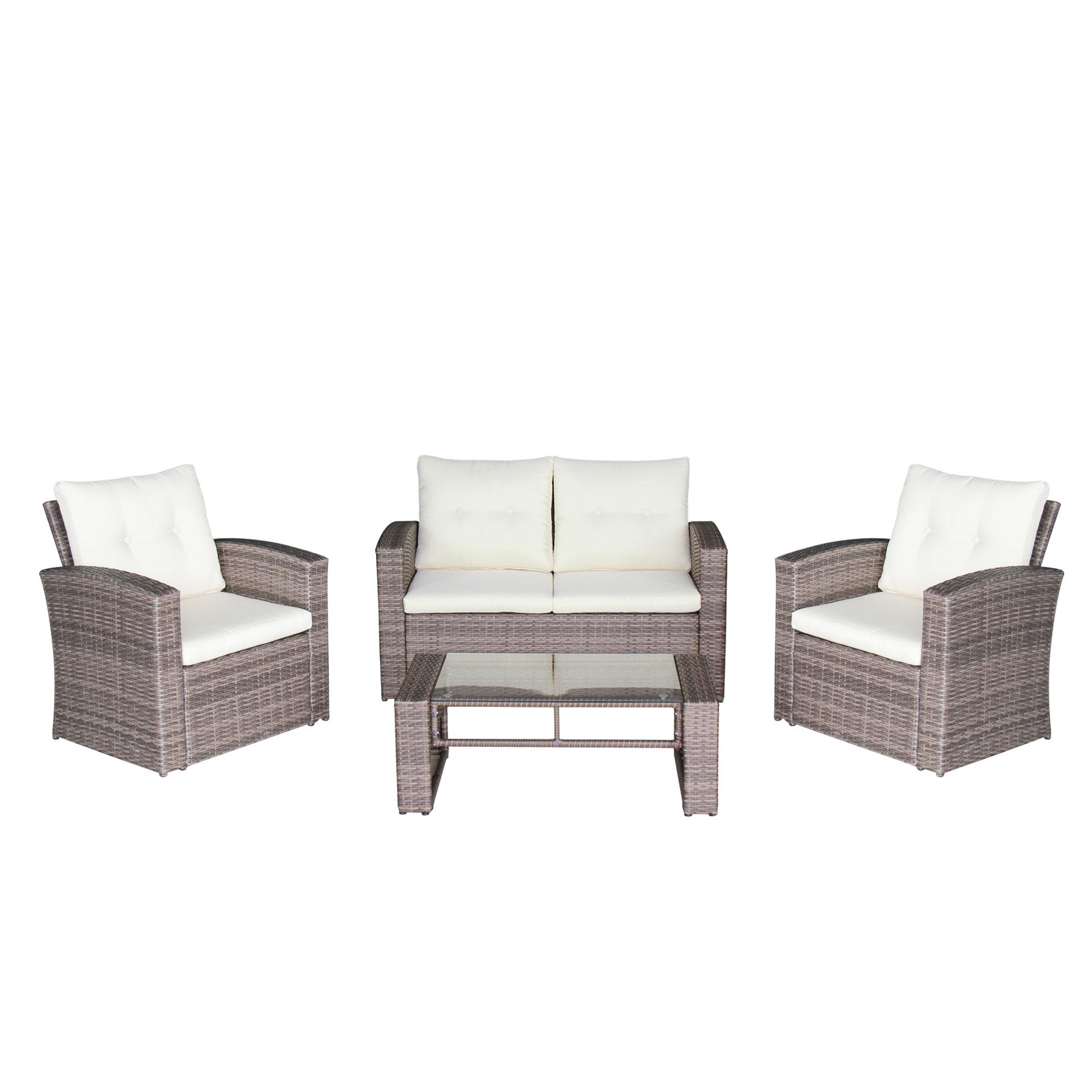 Wondrous Bremerton 4 Piece Rattan Sofa Seating Group Home Interior And Landscaping Ologienasavecom