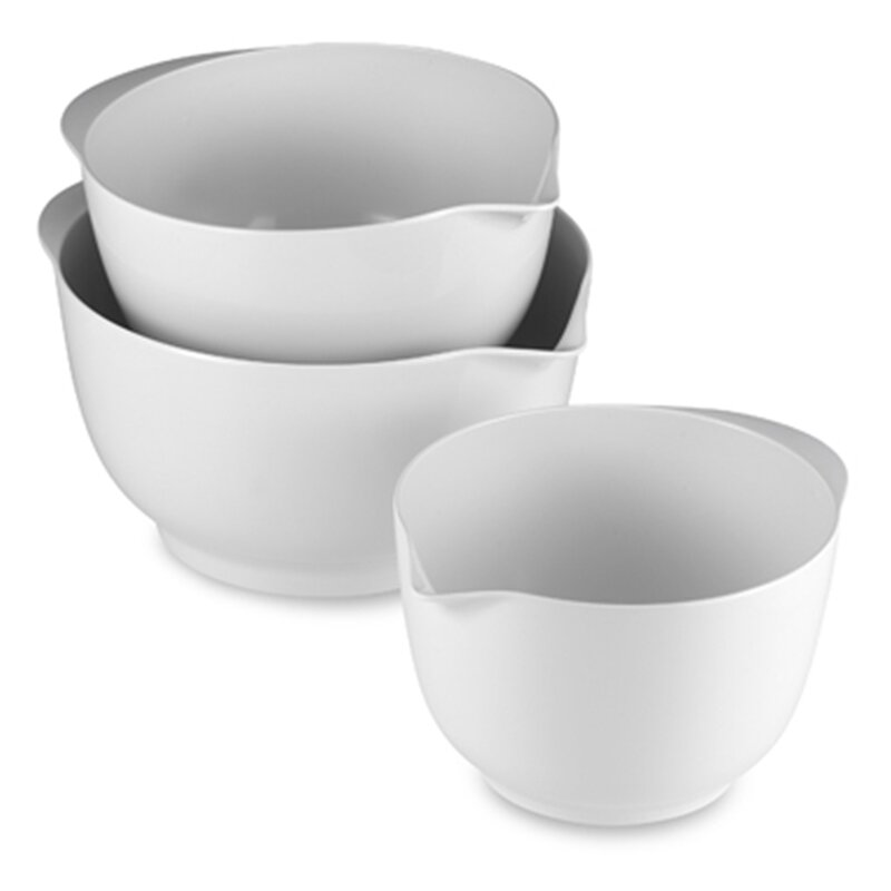 3 Piece Melamine Mixing Bowl Set