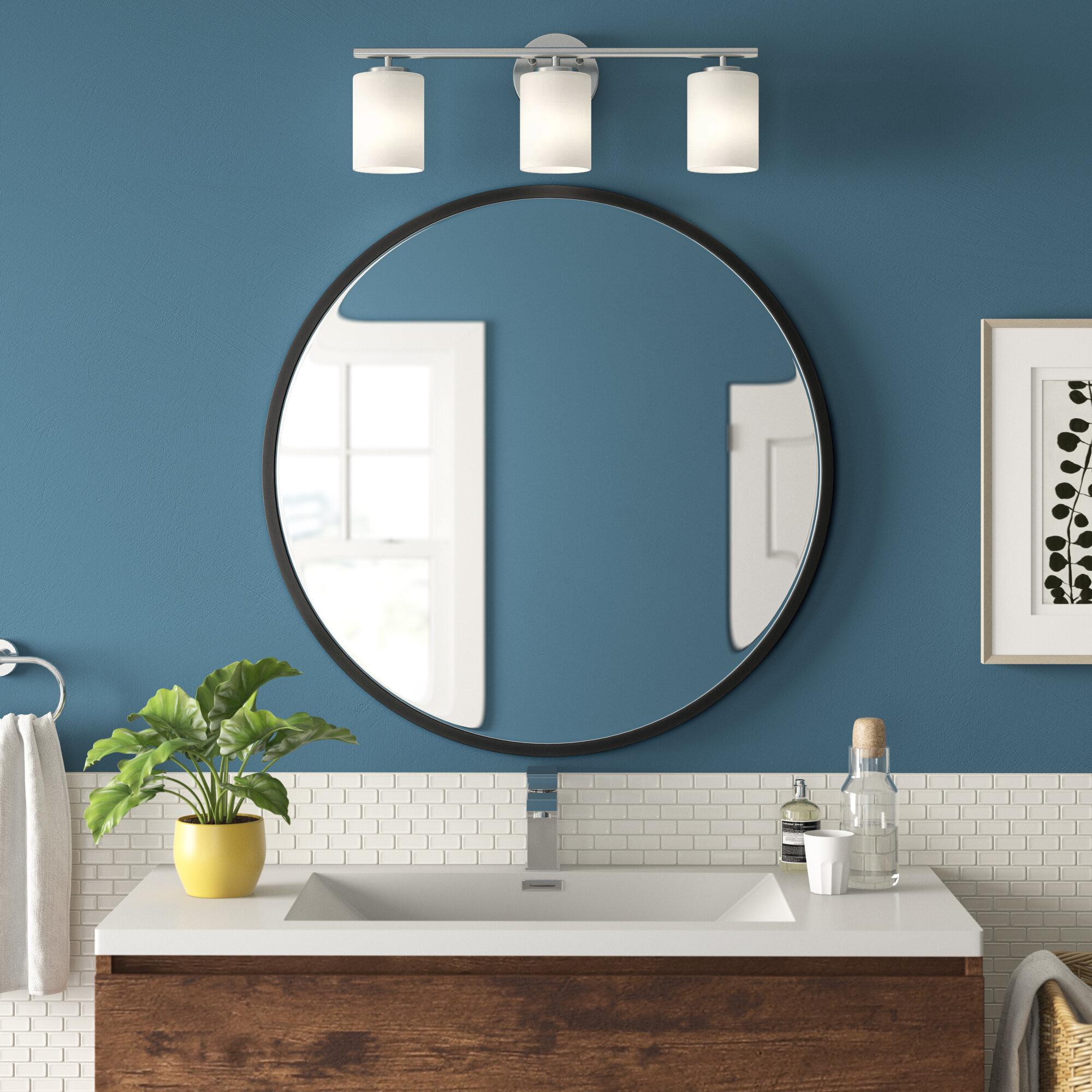 Zipcode Design New Milford Metal Bathroom Vanity Mirror Reviews Wayfair