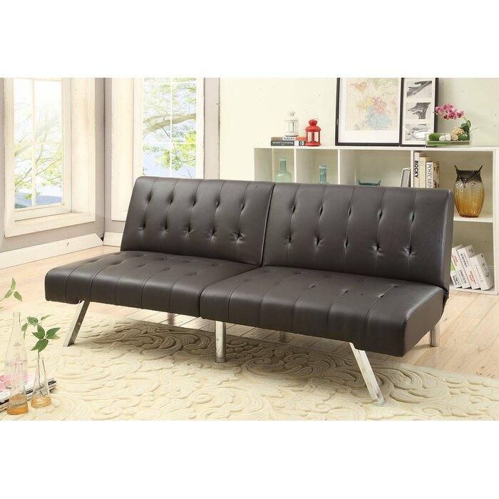 Bobkona Cleavon Convertible Sofa