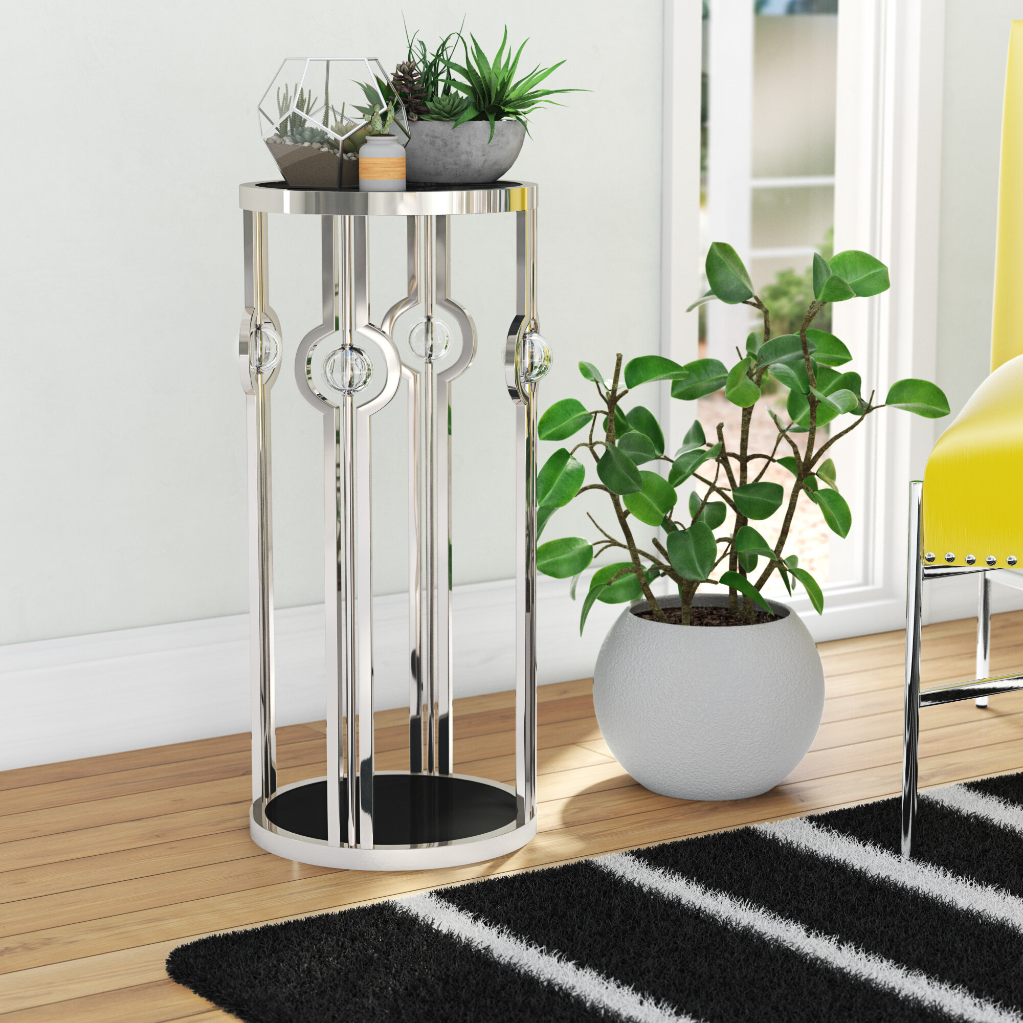 b5dc57908700 Orren Ellis Chandler Pedestal Plant Stand & Reviews   Wayfair