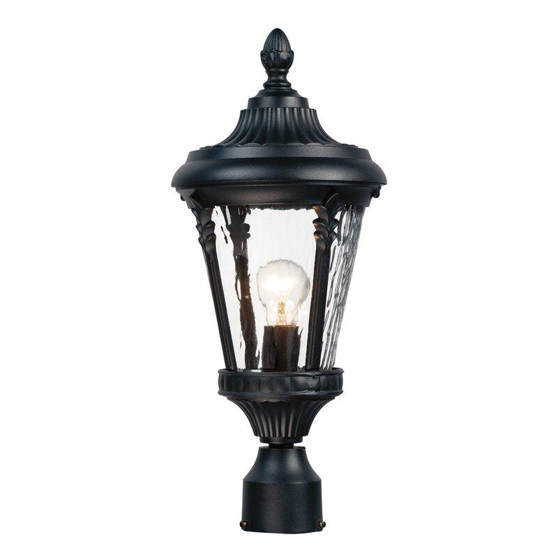 Charlton Home Westfall Outdoor Post 1 Light Lantern Head Wayfair