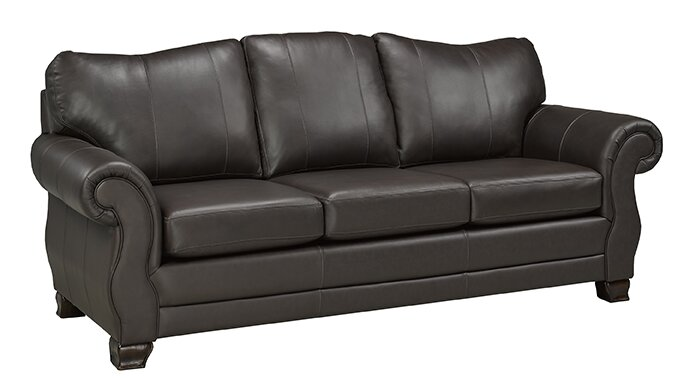 Used Italian Leather Sofa (brown) 5 yrs old for sale in Norcross - letgo