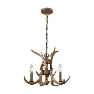 Check Prices Denville 3-Light Outdoor Chandelier By Loon Peak