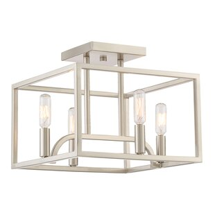 Designers Fountain Uptown 4-Light Semi Flush Mount