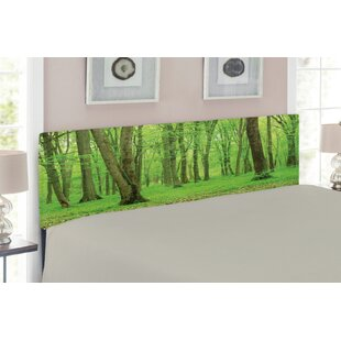 Forest Upholstered Panel Headboard by East Urban Home