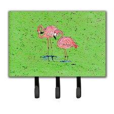Flamingo Leash Holder and Key Hook by Caroline's Treasures